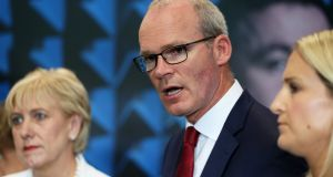 Simon Coveney said there would be 'carnage' in the fishing industry after a no-deal Brexit. Photograph: Brian Lawless/PA Wire