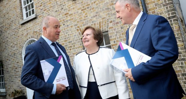 Bill Prasifka,  Dr Rita Doyle  and Paul Harkin are pictured at the launch of the Medical Council's five-year strategy. Photograph: Maxwell's
