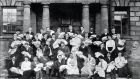 Midwifery students at the Rotunda Hospital in 1911.