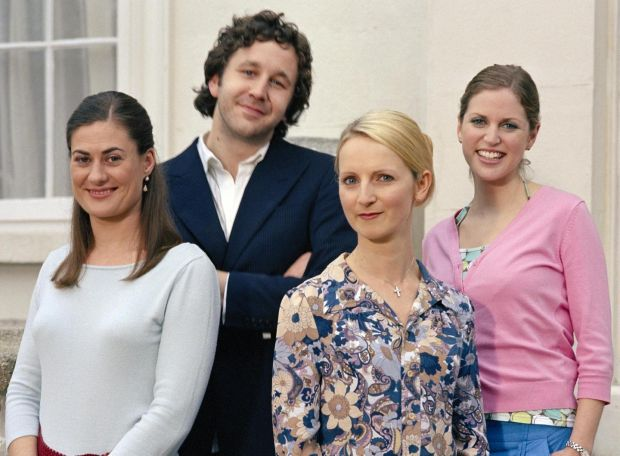 The Clinic: Chris O'Dowd with Gertrude Montgomery, Norma Sheahan and Amy Huberman in the RTÉ series, which ran from 2003 until 2009