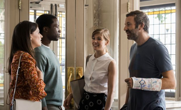 State of the Union: Chris O'Dowd with Aisling Bea, Sope Dirisu and Rosamund Pike in Nick Hornby's series