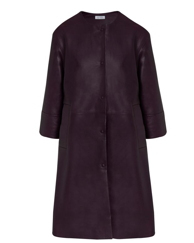TheEdit at Dunnes Stores: Chocolate Leather Coat, €229, designed by Carolyn Donnelly