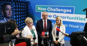 Minister for Business Heather Humphreys, Minister for Foreign Affairs Simon Coveney and European Affairs Minister Helen McEntee at the 'Getting Your Business Brexit Ready' campaign launch this week. Photograph: Brian Lawless/PA Wire