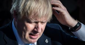 UK prime minister Boris Johnson making a speech in West Yorkshire. Photograph: Danny Lawson/PA Wire