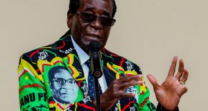 Robert Mugabe in 2016. Photograph: Jekesai Njikizana/AFP/Getty Images