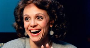 Valerie Harper laughs during an interview in New York in January 1987. File photograph: AP Photo/Ron Frehm