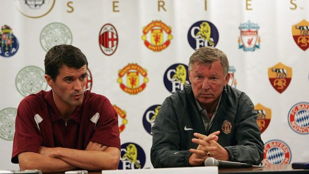 Keane and Ferguson at a United press conference in 2004. Photo: Phil Cole/Getty Images