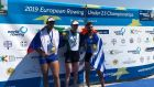 European under-23 medalists Alexander Vyazovkin (Russia), Ronan Byrne (Ireland) and Stefanos Ntouskos Greece).