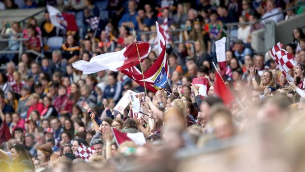 Galway fans celebrate. Photo: Bryan Keane/Inpho