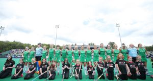 The Irish women's hockey team will play Canada with Olympic qualification on the line. Photograph: Inpho