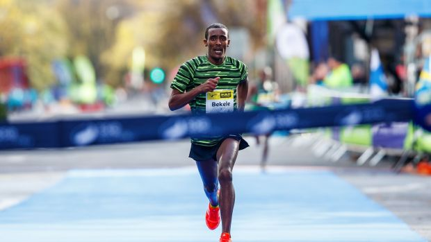 Asefa Bekele of Ethiopia won last year's Dublin Marathon. Photo: Bryan Keane/Inpho