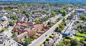 Aerial view of Rathgar Road, Dublin 6, shows the portfolio's two locations.