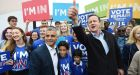 Seems like old times: British prime minister David Cameron and London mayor Sadiq Khan campaign for Remain on May 30th, 2016. Cameron is back in the public eye with the release of his memoirs, an interview Monday on UTV, and a documentary Thursday on BBC1. Photograph: Facundo Arrizabalaga/EPA
