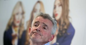 Ryanair CEO Michael O'Leary.  ISS has recommended that investors in Ryanair vote against the re-election of six non-executive board members of the airline. Photograph:  Leah Farrell/RollingNews.ie