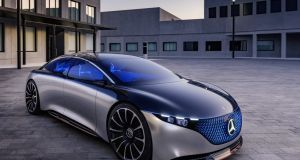 The Vision EQS, shown at Frankfurt for the first time, combines two electric motors to deliver all-wheel drive, along with an entirely new design language and Benz's first full, dedicated electric-car architecture.