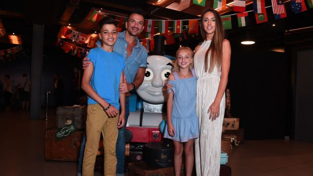 Peter Andre, Junior Andre, Princess Andre and Emily MacDonagh. Photograph: Eamonn McCormack/Getty