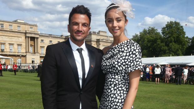 Peter Andre and his wife Emily Macdonagh. Photograph: Yui Mok /WPA Pool/Getty