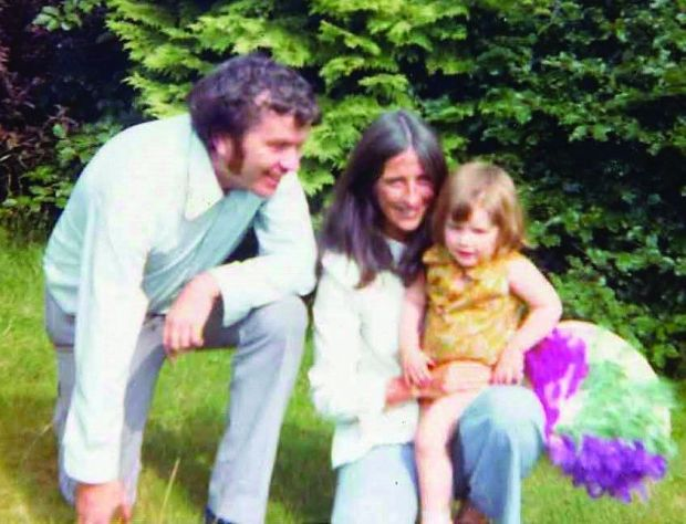 Irish childhood: Samantha Power with her parents, Jim Power and Vera Delaney, as a child