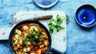 Chorizo, goat's cheese and tomato frittata from Darina Allen's latest book, One Pot Feeds All