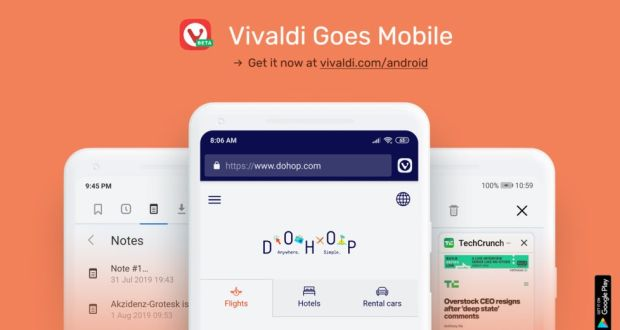 Vivaldi for Android offers alternative mobile browsing