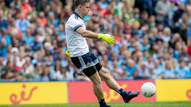 Dublin goalkeeper Stephen Cluxton at the All-Ireland SFC final at Croke Park on September 1st. Photograph: Morgan Treacy/Inpho