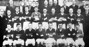 The Kerry team that won the All-Ireland senior football championship in 1941 after winning a semi-final replay against Dublin – in Tralee. Photograph: Terrace Talk