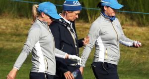 Team Europe captain Catriona Matthew - her team are the underdogs on home turf and that could prove a valuable weapon. Photograph: PA