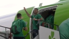 The Ireland squad departs for the Rugby World Cup