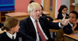 Question time: British prime minister Boris Johnson attends a year-four history class in Pimlico Primary School, London. His first letter to the EU in August read like an ode to the union. Photograph: Getty