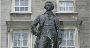 Statue of Edmund Burke at Trinity College Dublin. Photograph: Brenda Fitzsimons