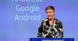 European Competition Commissioner Margrethe Vestager: her re-appointment this week will rattle Silicon Valley. Photograph: Reuters/Francois Lenoir