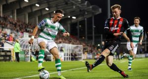 Shamrock Rovers and Bohemians could face off in the semi-finals of the FAI Cup. Photo: Ryan Byrne/Inpho