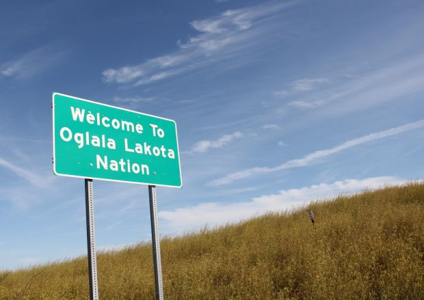 The vast Pine Ridge Reservation in South Dakota is home to the Oglala Sioux Nation. Photograph: Stephen Starr