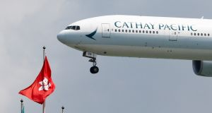 Cathay Pacific axed several routes on Thursday. Photograph: Reuters