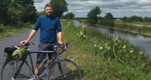 Lenny Antonelli cycled the Royal Canal Greenway with is girlfriend Michelle.