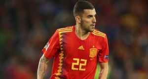 "Dani Ceballos:  ""We've got a very good compact side, and the three up front really make the difference."" Photograph: Nick Potts/PA Wire"