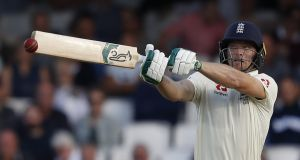 England's Jos Buttler plays a shot during play on the first day of the fifth Ashes  Test against  Australia at The Oval. Photograph: Adrian Dennis/AFP/Getty Images