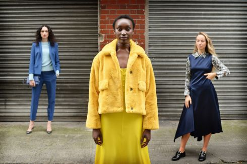 CLOTHES CALL: Models wear clothes from the Arnotts A/W 2019 collection in Dublin. Photograph: Dara Mac Dónaill/The Irish Times