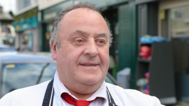 John McQuinn of Roger Finnerty Butchers in Oughterard. Photograph: Joe O'Shaughnessy
