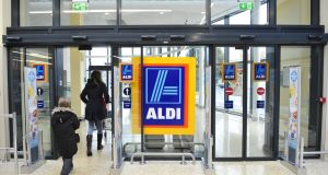 The supermarket chain Aldi has said that 'availability issues' have  forced it to begin selling Irish beef and pork products processed at UK plants. File photograph: Aidan Crawley/The Irish Times.