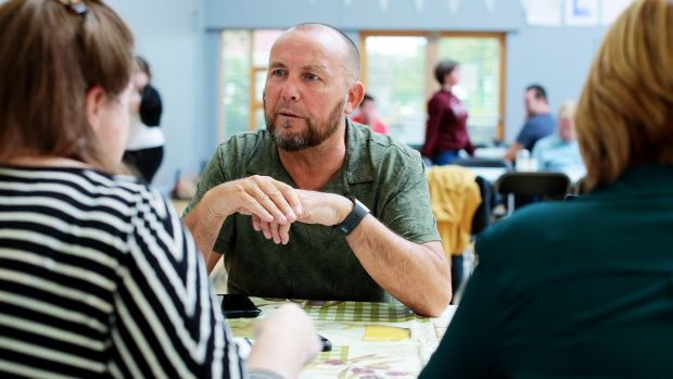 Tommy Coombes runs the Bluebell Community Development Project, which hosts an open breakfast on Friday mornings.