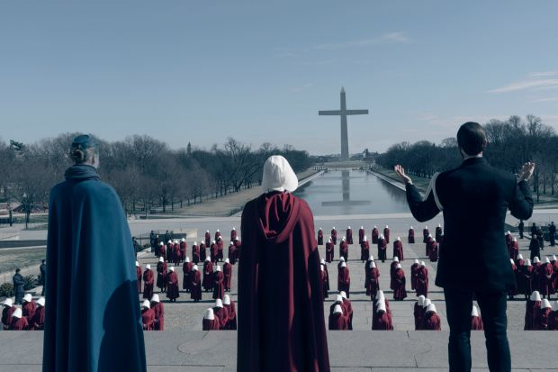 From the television adaptation of The Handmaid's Tale. Photograph: Barbara Nitke/Hulu