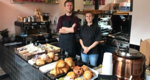 Adam Fleetwood and Eve Whitaker in their new cafe, Greenville, on Tara Street in Dublin 2