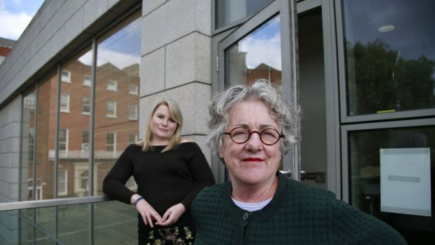 Playwright Nancy Harris with director Garry Hynes at the Gate Theatre. Photograph: Nick Bradshaw/ The Irish Times