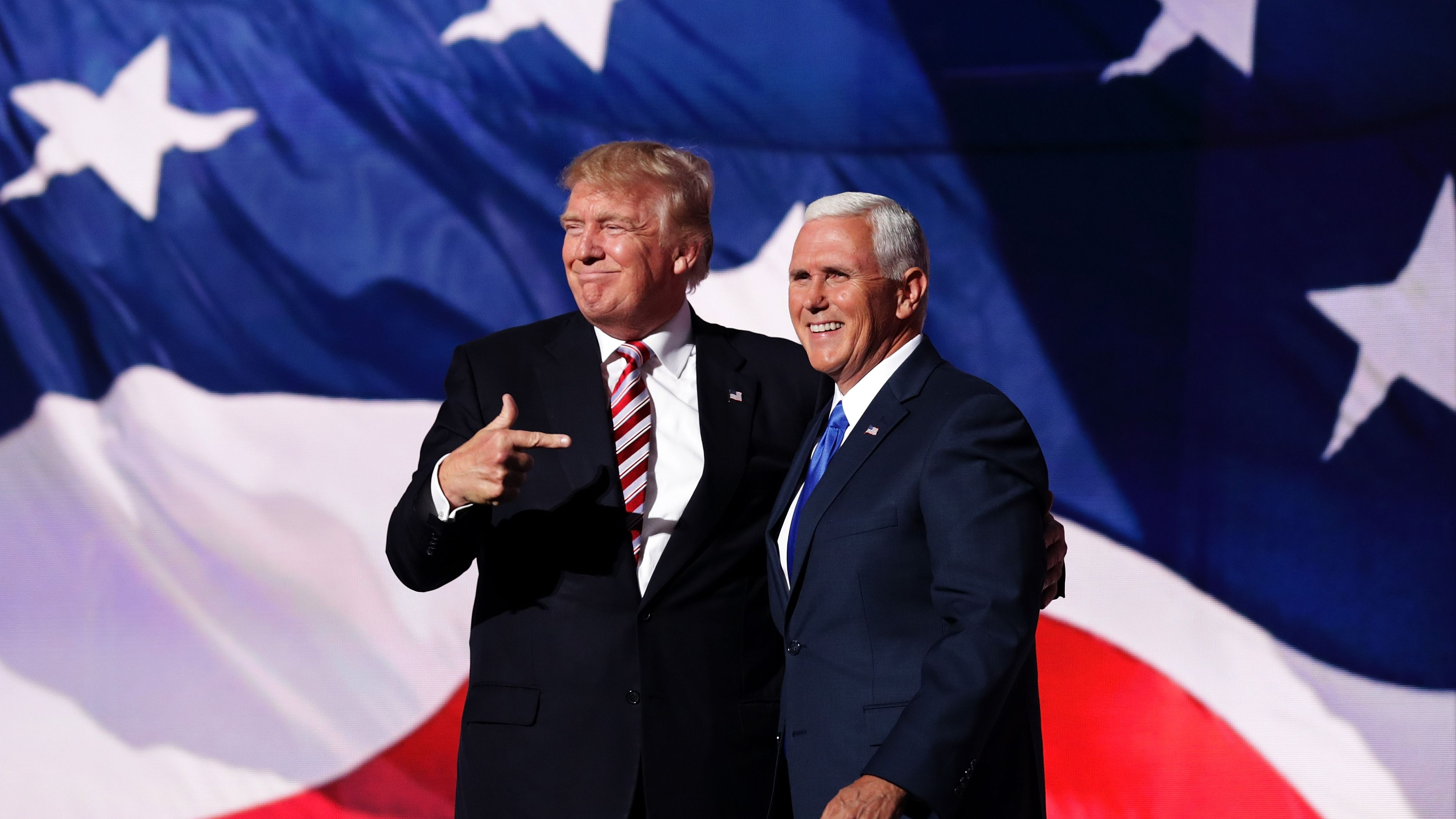 Donald Trump and Mike Pence: Tensions at the top