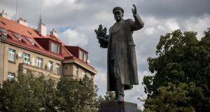 The monument depicting  Ivan Konev in Prague, Czech Republic. Photograph: Martin Divisek/EPA
