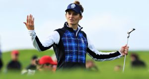 Anne Van Dam of Team Europe  during Day 1 of the Solheim Cup at Gleneagles on Friday. Photograph: David Cannon/Getty Images