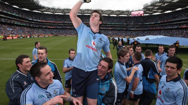 Dublin's Michael Darragh MacAuley celebrates Dublin's 2011 All-Ireland win. Photograph: Morgan Treacy/Inpho