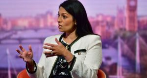 Priti Patel said  the Irish border issue had moved on from the backstop in terms of discussions with the EU. Photograph: Jeff Overs/BBC/PA Wire.