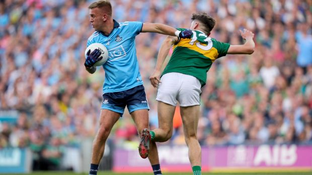 Jonny Cooper in action against David Clifford during the All-Ireland Final replay at Croke park. Photograph: Oisín Keniry/Inpho